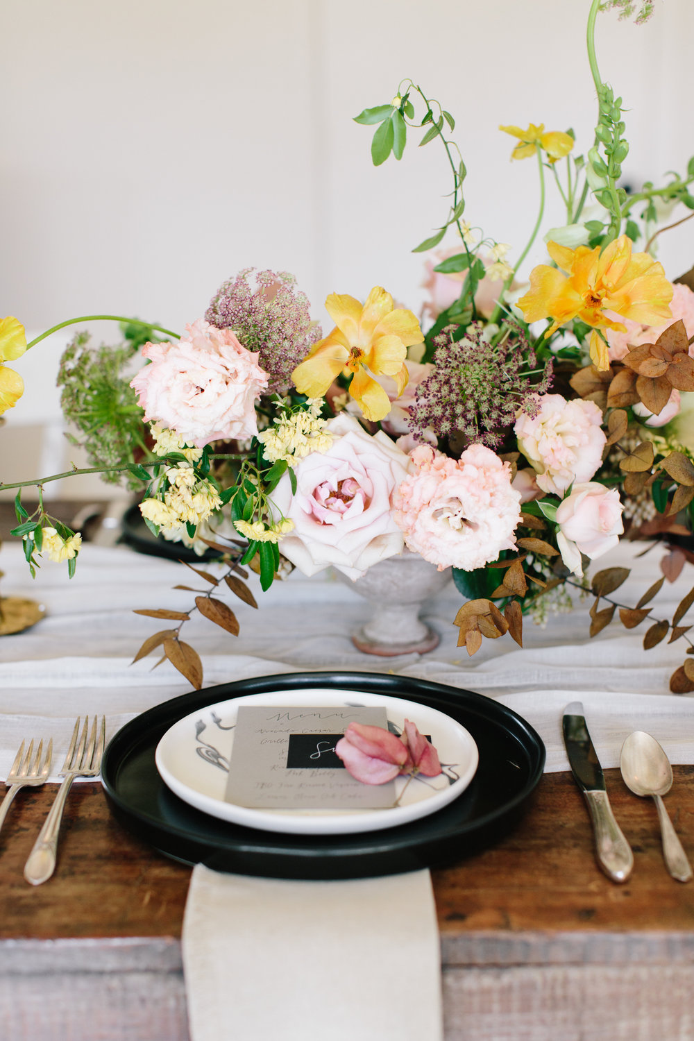 Floral Place Setting at The Vintage Round Top