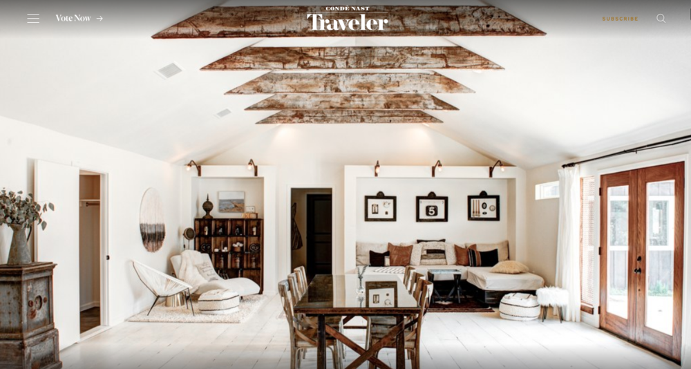 The Vintage Round Top on Condé Nast Traveler