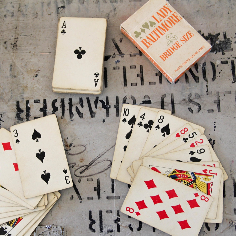 vintage playing cards - $15