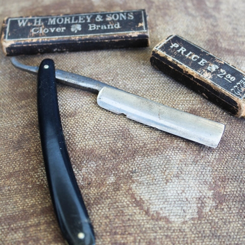 w.h. morley & sons straight razor - $48