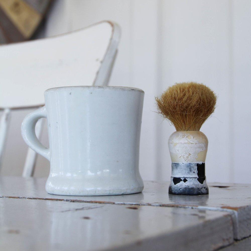 ironstone shave set - $22