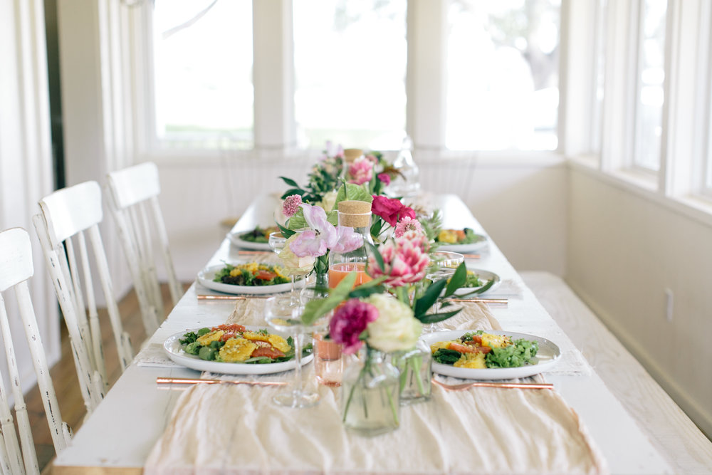 Colorful Bridal Brunch at The Vintage Round Top