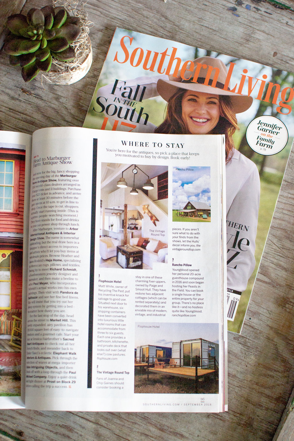 The Vintage Round Top in Southern Living Magazine