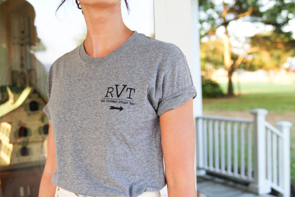 RVT Shop Live With Intention Tee Shirt - The Vintage Round Top - Paige's blog