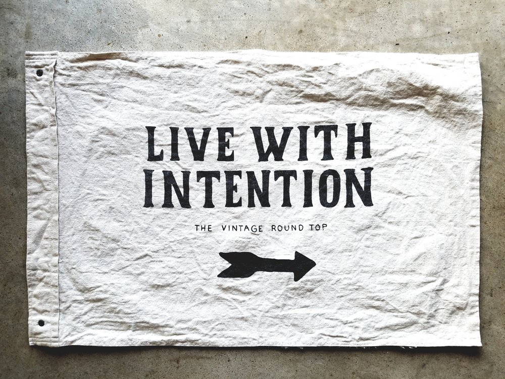 RVT Shop Live with Intention Flag - Wild Standard - The Vintage Round Top -Paige's blog