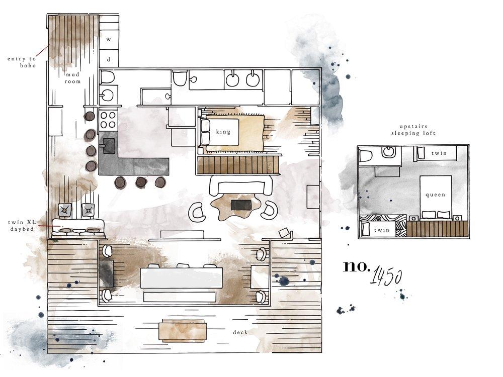 No. 1450 cottage floor plan