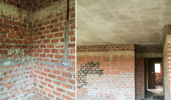 Electrical, plumbing and a ceiling are going in thanks to recent donations!