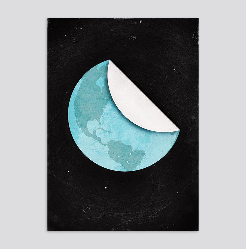 Blue Spot Poster