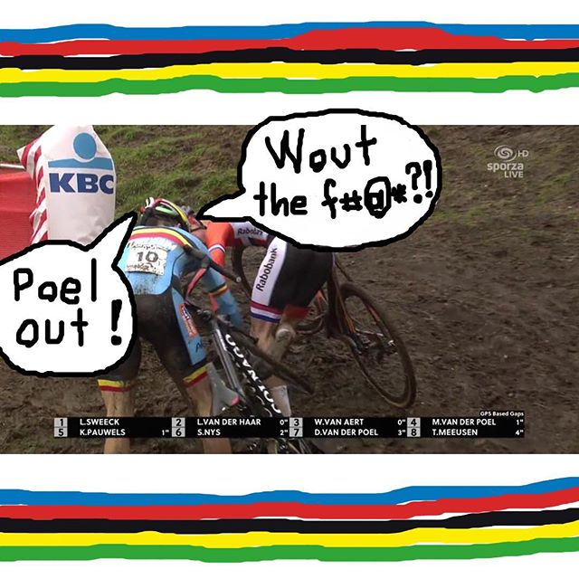 SPECIAL #NAWORLDS #NAWUCI COVERAGE: the defining moment of today's Cyclocross World Championship -- with audio.