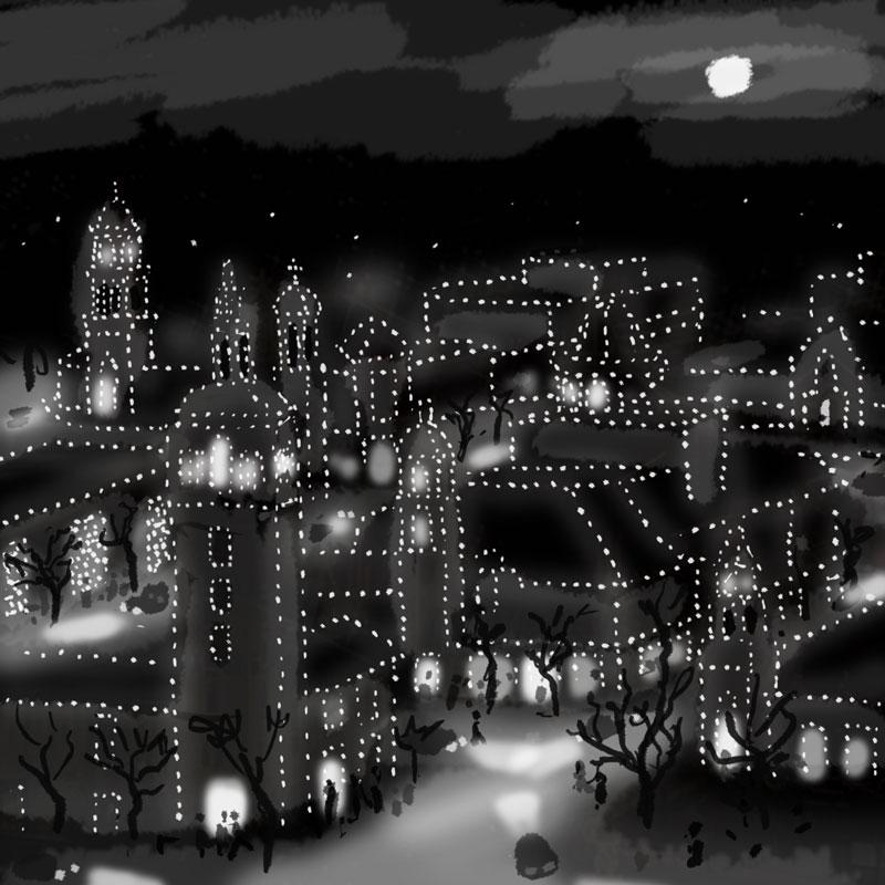 Plaza Lights rough idea sketch