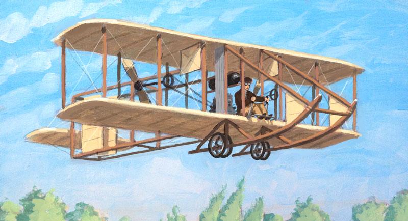 Albert flying a Wright Model B