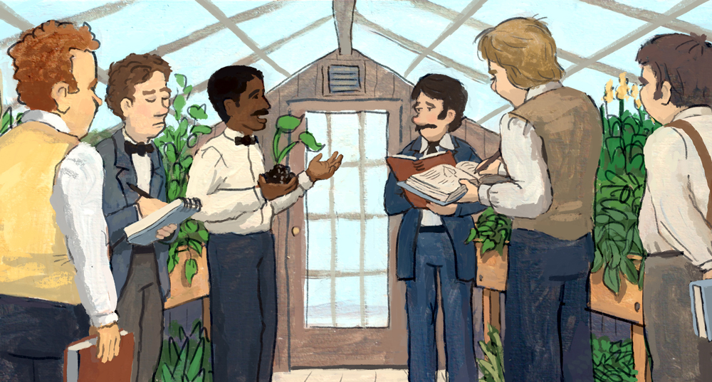 George Washington Carver teaching at Iowa State University.
