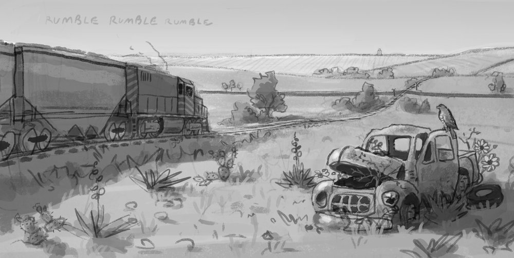 A sketch from a story idea I've been rolling around this winter.