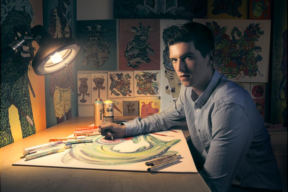 Editorial Portrait of Maxfield Bala