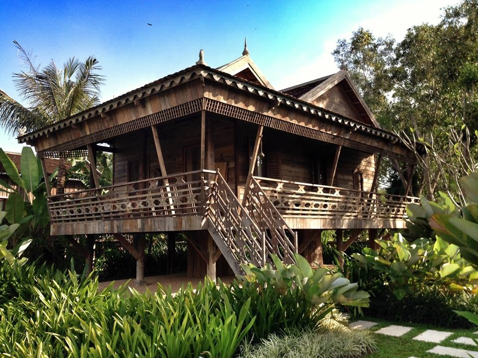 Traditional Khmer stilt house at Sala Lodges