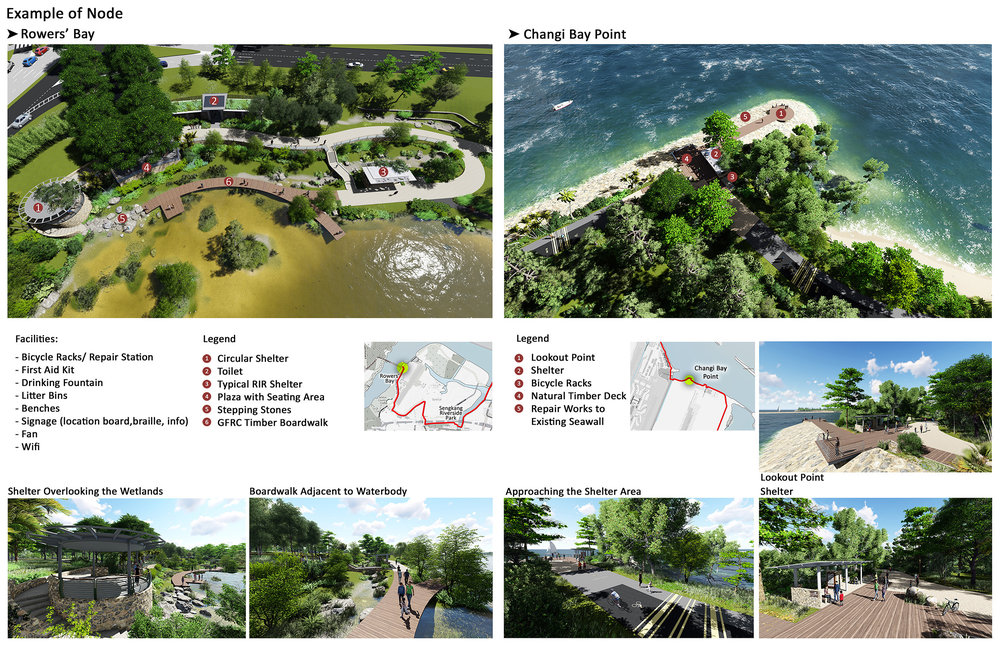Round Island Route Coastal Adventure - Visualizations and the Proposed Facilities at two of the RIR Nodes.