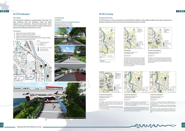Bishan to city feasibility study wins gold at singapore landscape feasibility report page indicating cycling audit for crossing route options pronofoot35fo Gallery