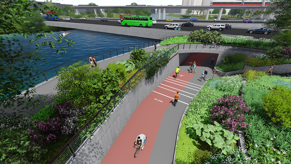 Visualization of Sims Avenue Underpass