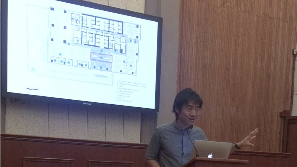 BB lecture at the SCAD_ Kenny Kinugasa-Tsui discussed the concepts of exchange through the studio's ethos in generating creative ideas through a highly rigorous and critical process of architectural drawings.