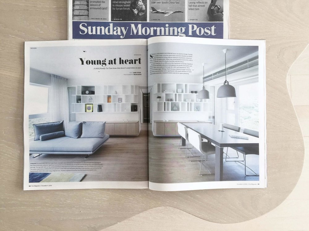 SCMP _Enjoying the Sunday morning reading today's Post Magazine with our project featured!