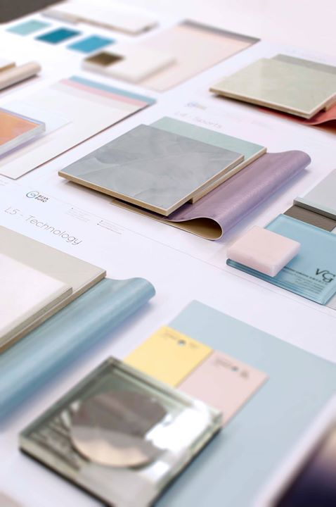Materials_  Loving the pastel hues, patterned glass & textured paints for our upcoming retail design! Stay tuned for updates on this fresh, luxurious and quirky project, inspired by Fairytales!
