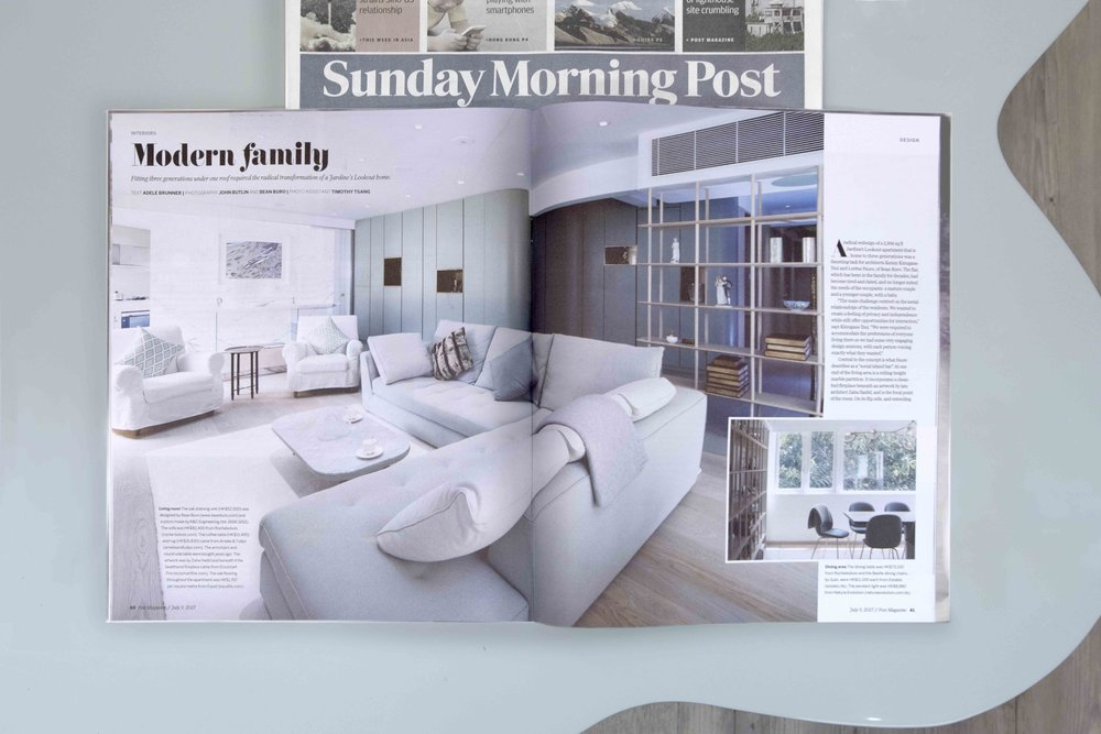 SCMP_  Our latest design for a family apartment is featured in The Post Magazine in South China Morning Post! Check out the article  here .  Thank you  South China Morning Post  for the article!  #architecture  #interior   #design   #apartment   #hongkong