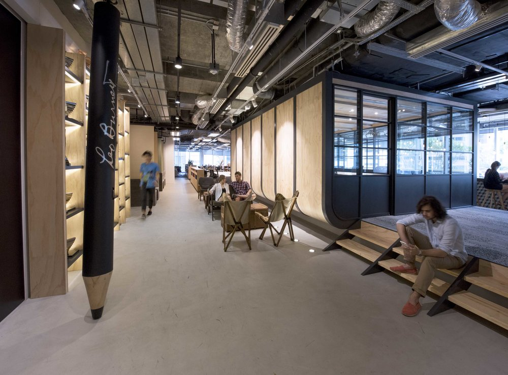 Inspired by an exchange of contextual narratives from the local culture of post-industrial Kwun Tong, the design encourages social interactions between staff to increase creativity and collaboration. The new office supports the dynamic working culture of a creative agency through a variety of spaces such as open plan work clusters, semi-private discussion areas, private meeting rooms, and enclosed offices.