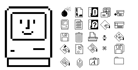 Icons from Mac OS 1.0