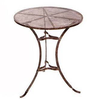 Iron Mesh Cafe Table
