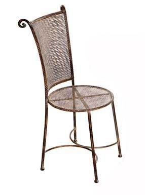 Iron Mesh Cafe Chairs