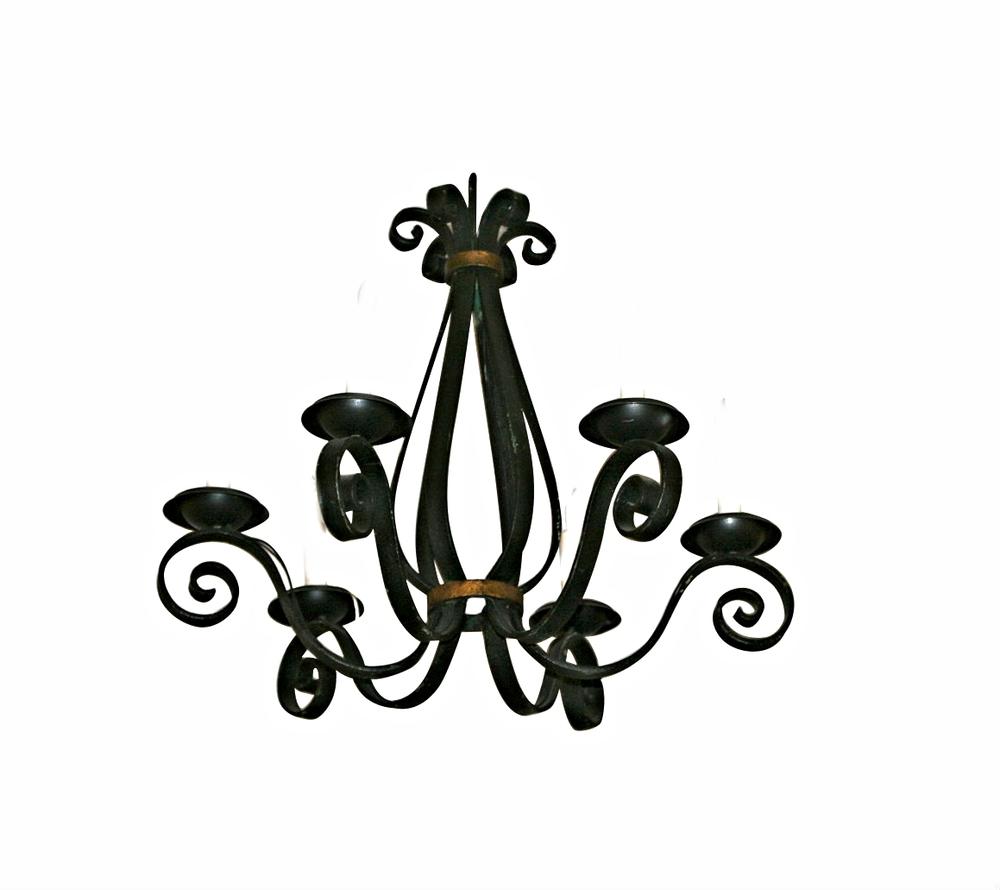 Wrought Iron Hanging Candelabra