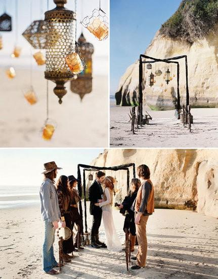 Beach style wedding with campfire, marshmellows and a gueetar!!