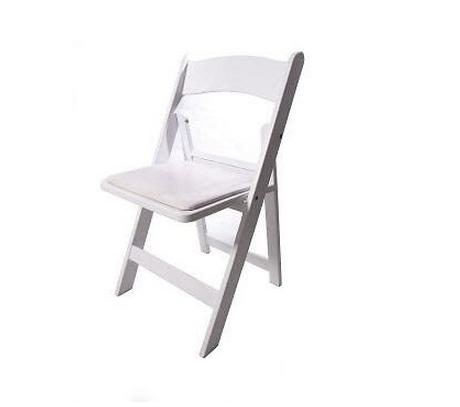 White Folding Gladiator Chair