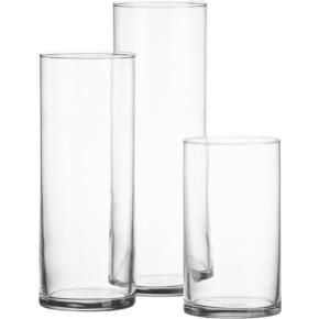 Cylinder vases assorted sizes