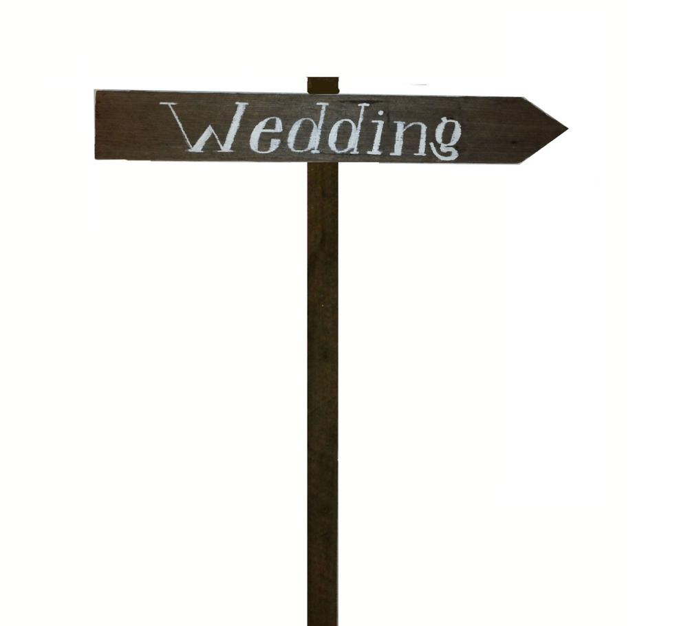 Wedding direction sign