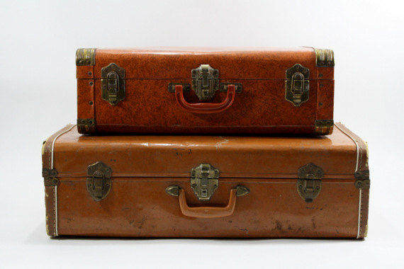 Old Brown Suitcases