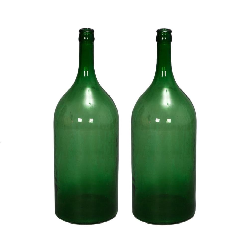 Tall Green Glass Bottles