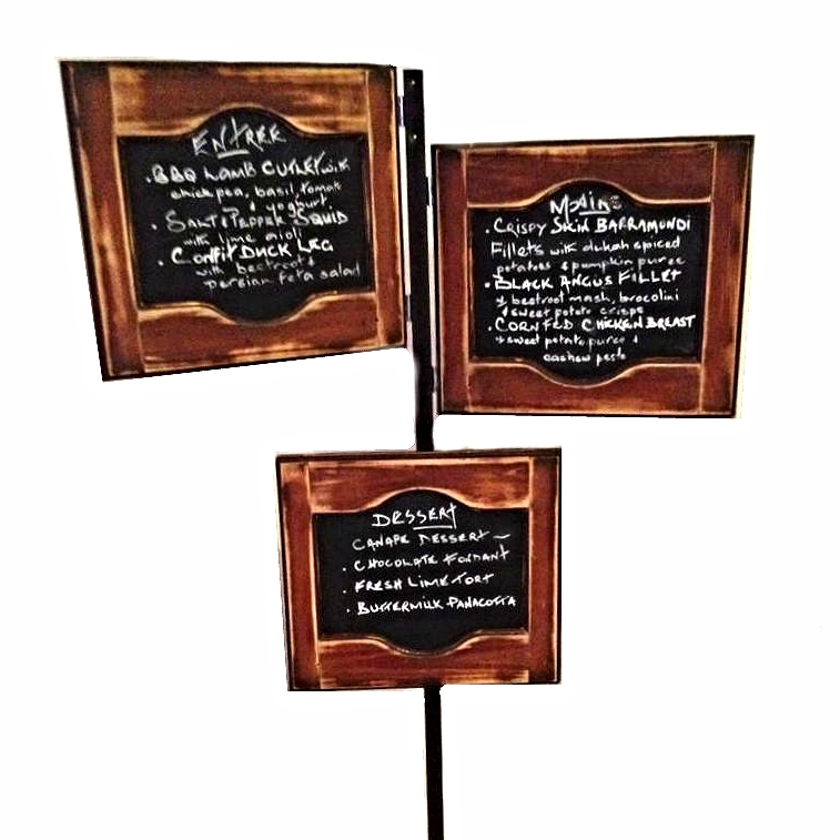 Wooden Blackboard Menu Stand