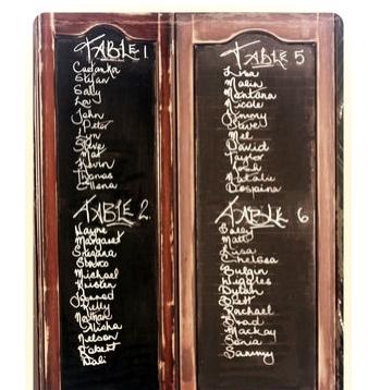 Wooden Blackboard Stand