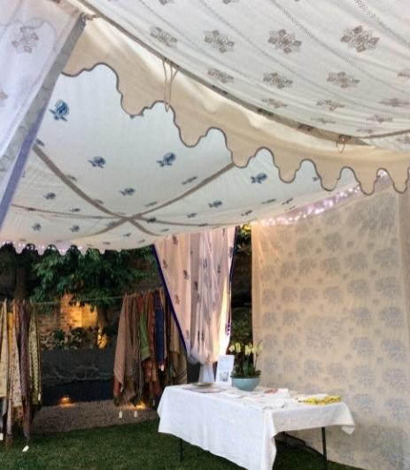Indian bohemian tent