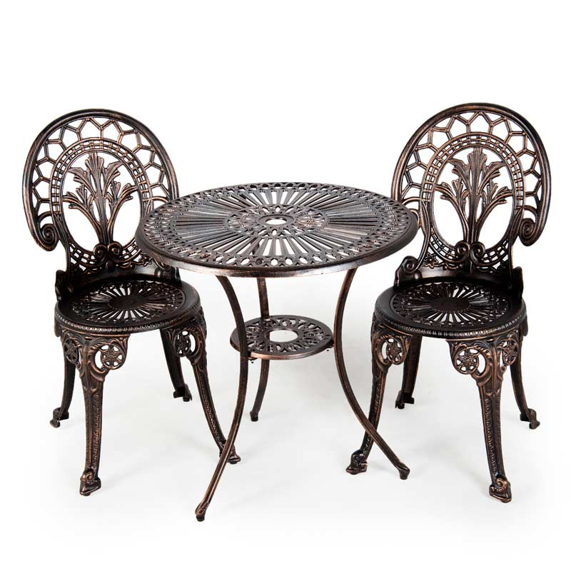 Black Wrought Iron Table and Chair set