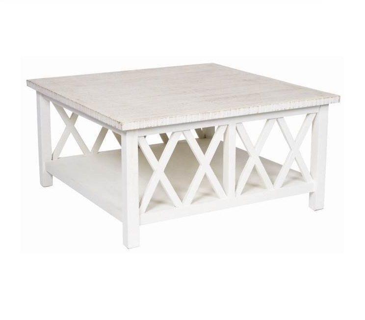 Wooden Whitewashed Table
