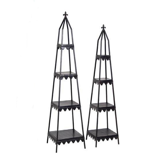 Tiered Wrought Iron Stands