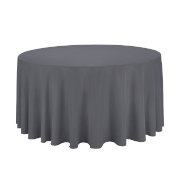 Round Charcoal Tablecloth