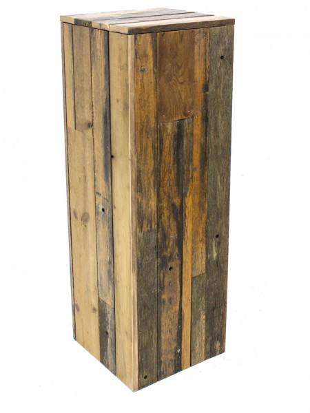 Wooden Rustic Plinth