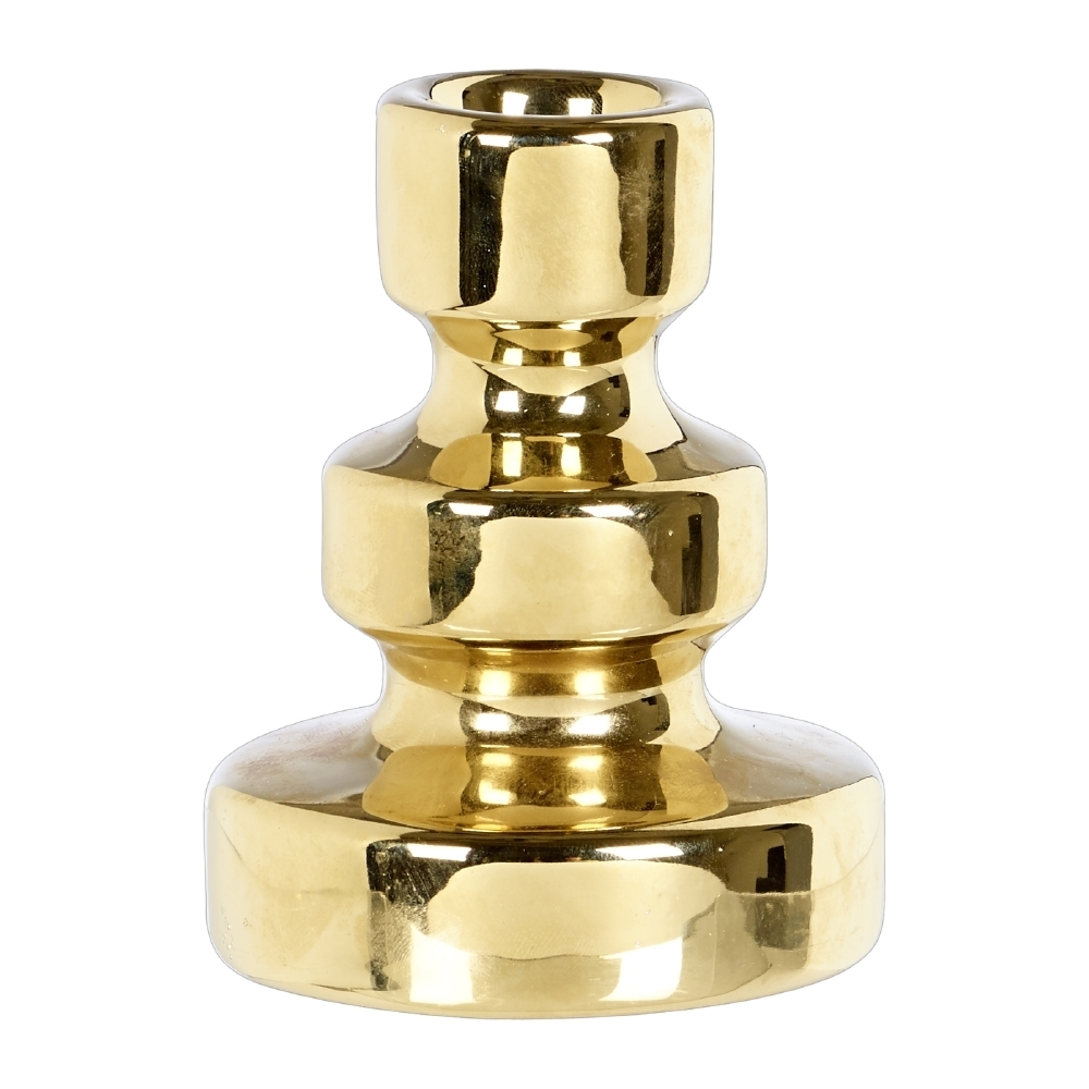 Gold Candle Holders $8