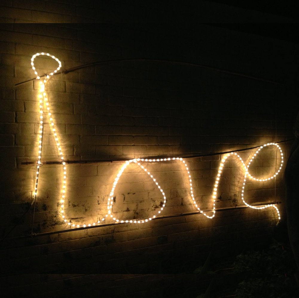 LOVE sign in string Lights $70