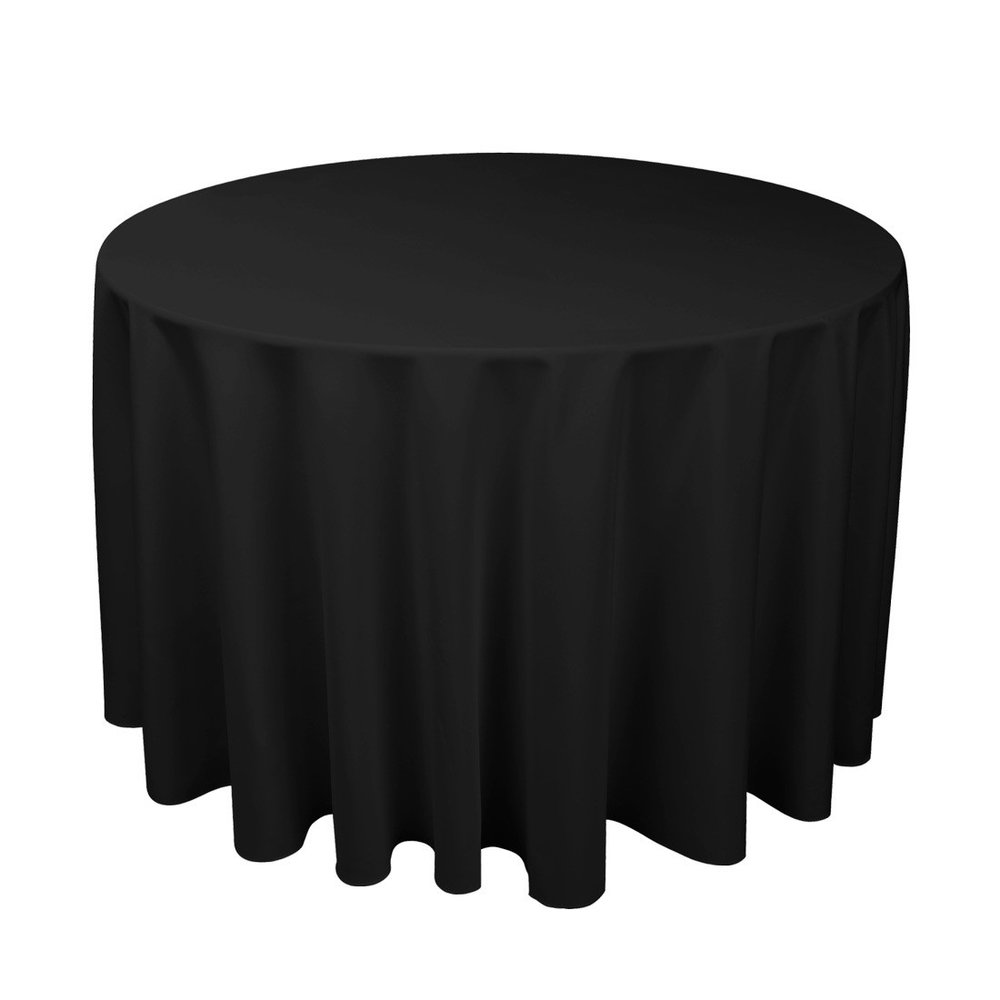 Black Circular Table Cloth $12