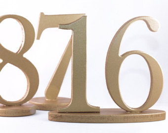 Gold Table Numbers $2