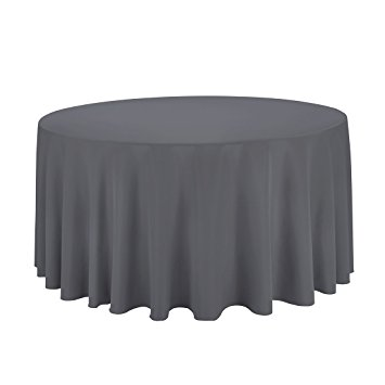 Charcoal Circular Table Cloth $12